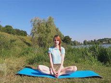 Бабочка. Упражнение в йоге. Поза Бабочки для энергии жизни.mp4